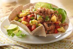 Mango Turkey Taco Salad | #tacos | http://www.jennieo.com/recipes/410-Mango-Turkey-Taco-Salad