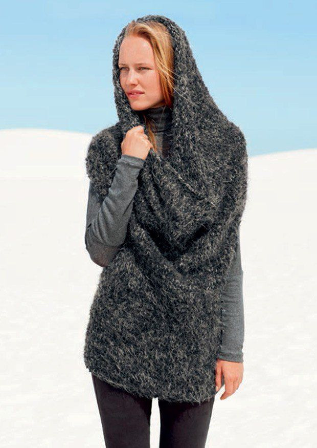 2 Way Tube Sweater in Bergere de France Plume and Teddy (428.67)