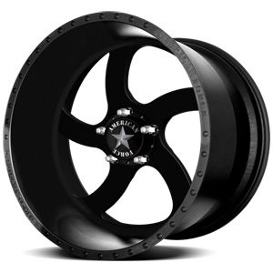 American Force Blade SS5 Solid Flat Black Custom Truck Wheels & Rims