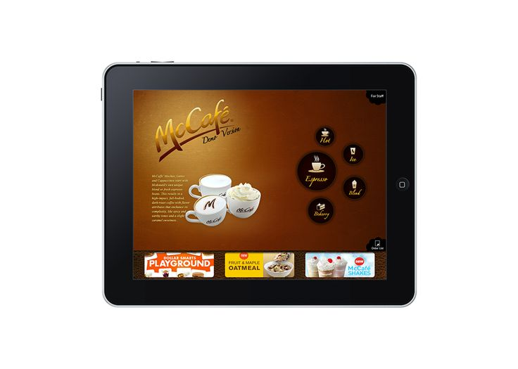 McCafé • iPad taking order (Prototype) - CloudDHA 2010  Developer: WeerayootNgandee (https://www.facebook.com/weerayoot.ngandee)