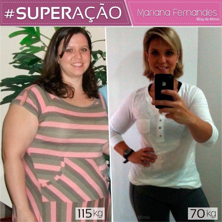 Superação blog da Mimis - Mariana Fernandes - antes e depois