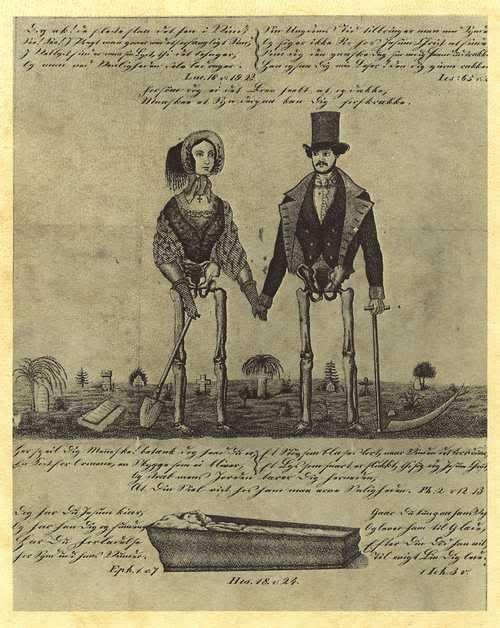 Danish memento mori. Interesting concept for the memento mori depiction.
