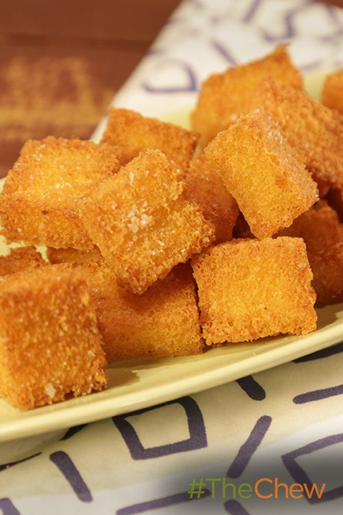Turn polenta into Polenta Croutons with this easy recipe!