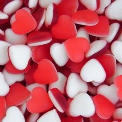 Haribo Red and White Heart Throbs