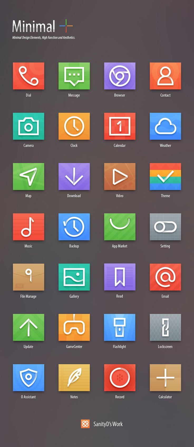 SanityD / Minimal__ #ui #icons