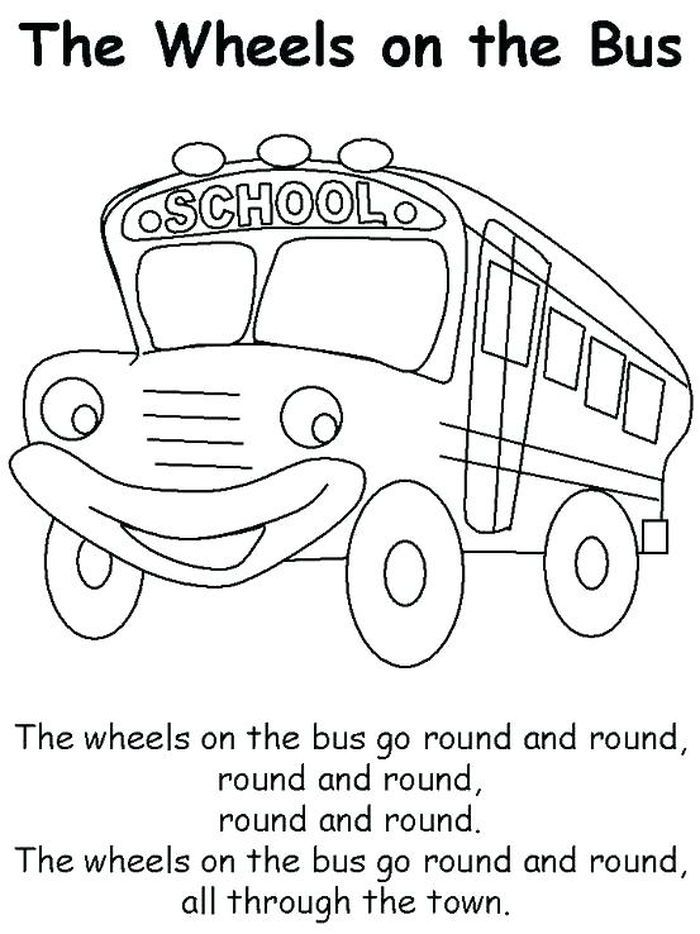 Bus Coloring Pages Collection School Bus Crafts Wheels On The