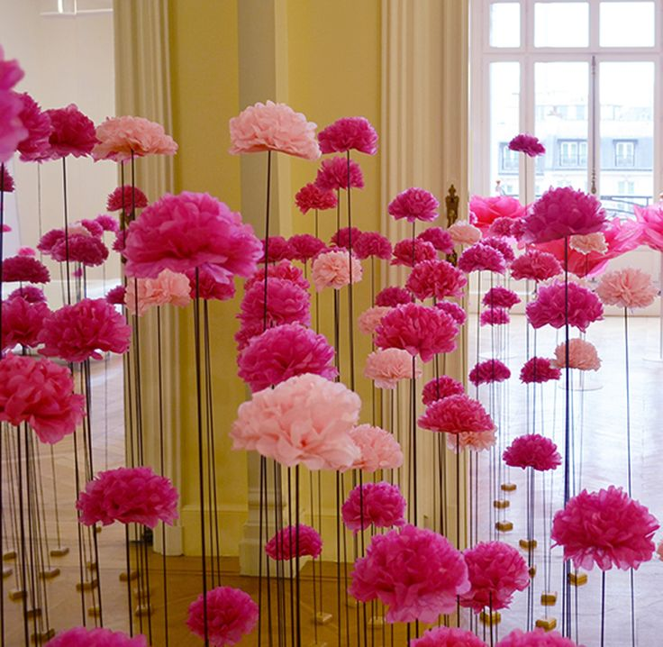 lancement parfum Rose Pompon Annick Goutal | Comment fabriquer des fleurs en papier, Fleur ...