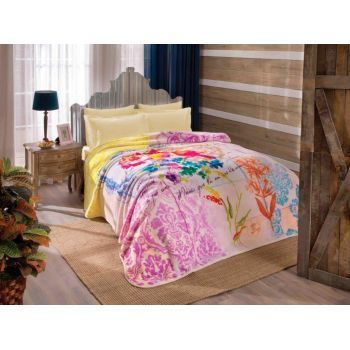 Tac Cheri - patura 220x240 cm - Alege o patura de pat asortata dormitorului tau sau creeaza cu ajutorul ei o pata de culoare! #patura #paturapat #decoratiunidormitor #Decostores  #bedblanket #blanket #homedecor