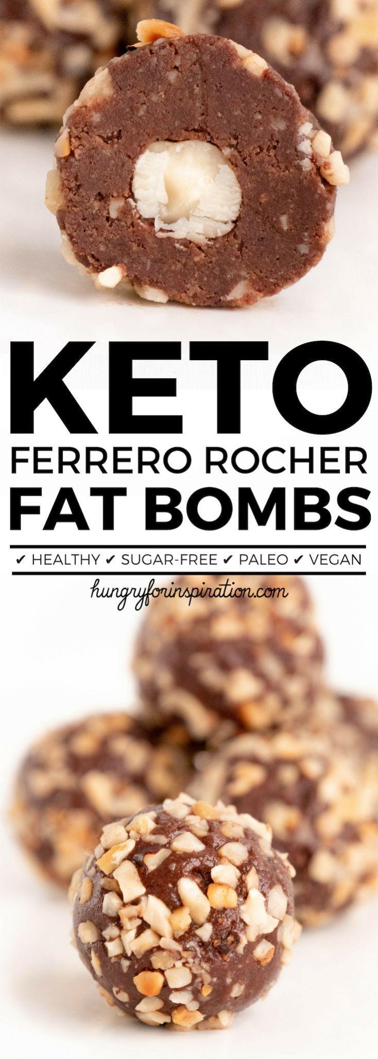 Gesunde No Bake Ferrero Rocher Keto Fettbomben (Keto Dessert, Low Carb Desserts, …