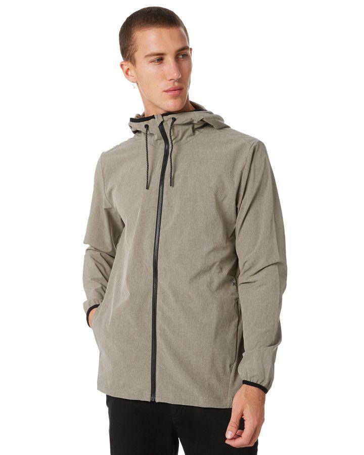 156bd3e9736d Hurley Protect Full Zip Mens Jacket Dark Stucco Dark Stucco Mens Jackets  Other Size XL