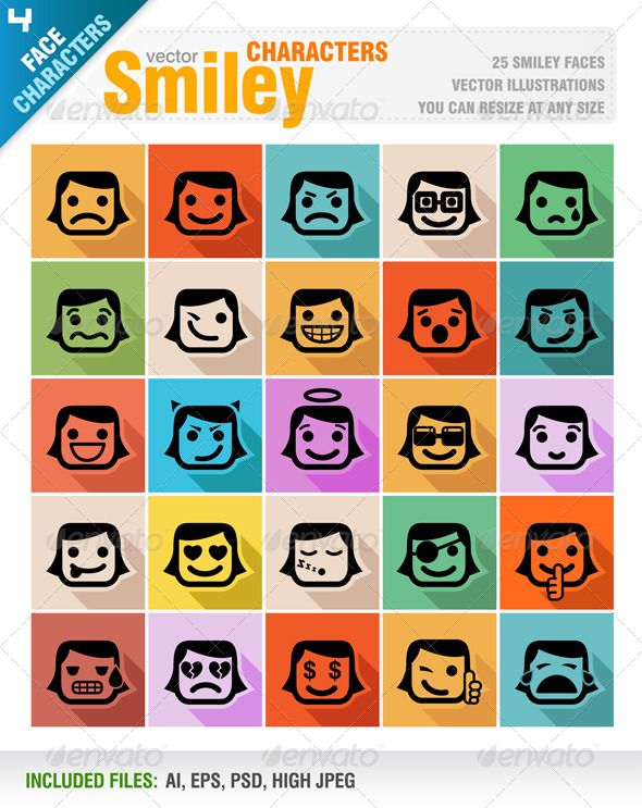 Smiley Faces Icon Set