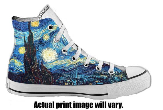 Starry Night Custom Converse All Stars by ArkhamPrints on Etsy, $85.00