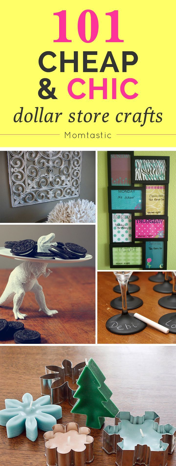 Love the idea of these cheap, chic, DIY crafts.