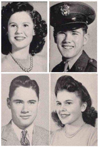 Graduating seniors from Herbert Hoover High School in 1944 - San Diego, California