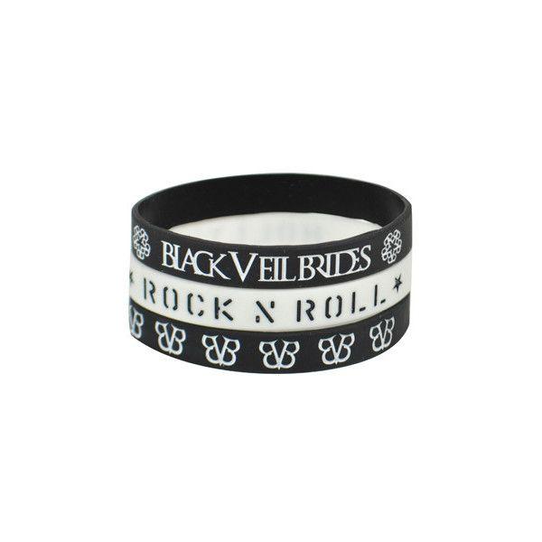 Black Veil Brides Tres Rokkband - official band merchandise - BVB... ($5.94) ❤ liked on Polyvore