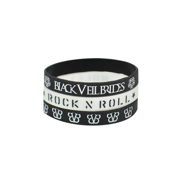 Black Veil Brides Tres Rokkband - official band merchandise - BVB... ($5.94) ❤ liked on Polyvore