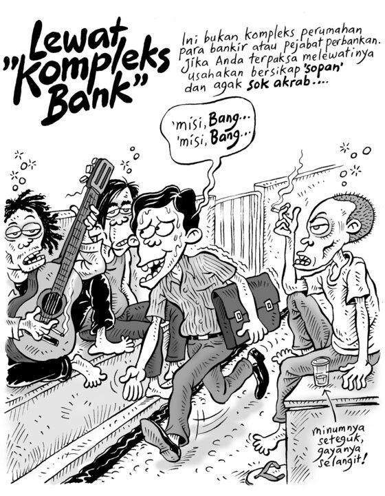 Lewat Kompleks Bank