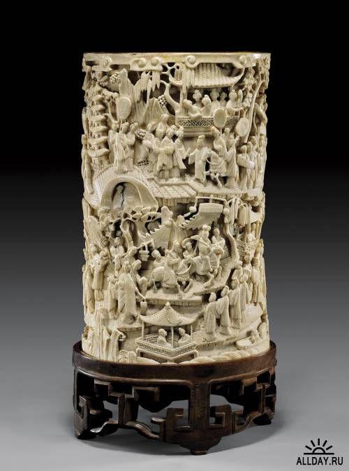 Резьба. Китайских мастеров. Слоновая кость. один из видов художественной обработки дерева, кости, рога, камня, металла, скорлупы, кожи и даже мыла.