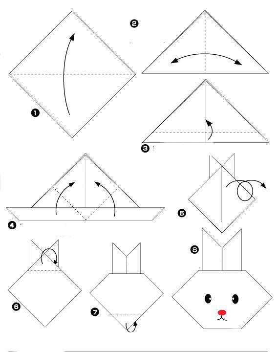 origami facile loup