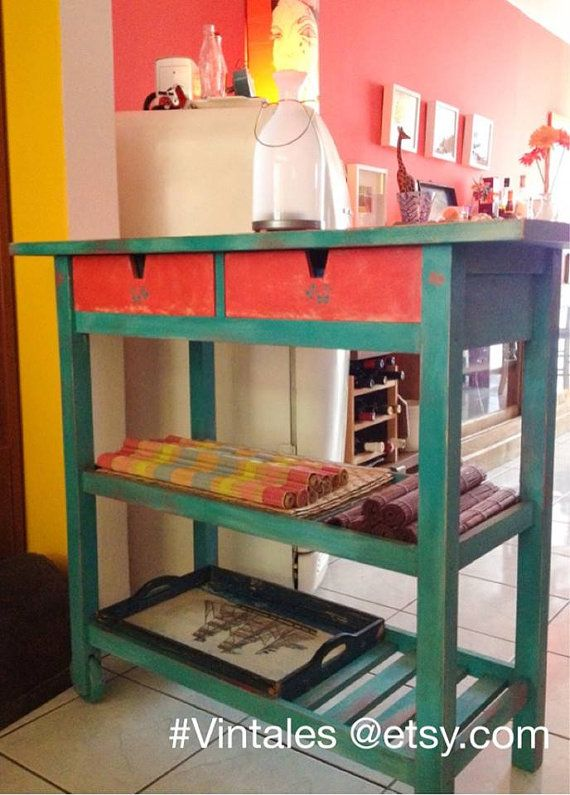 Shabby Chic kitchen island / Annie Sloan Chalk Paint by Vintales/ FORHOYA IKEA /hack
