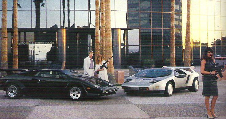Кокаиновый шик 1980-х: Lamborghini Countach, Vector W2, белые костюмы и телохранительницы