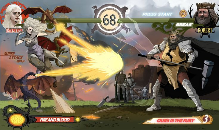 Awesome Game of Thrones as a Street Fighter like game by Roberto Flores...