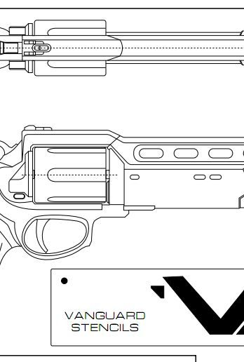 A template to get you started on making a hand cannon weapon from Destiny!