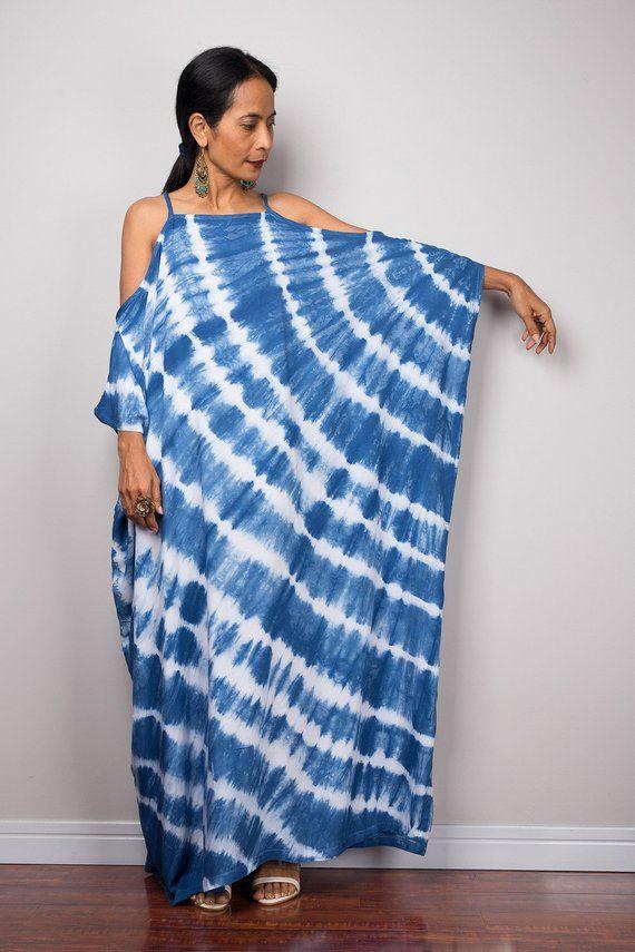 60f1b31651d6 Shibori Tie dye kaftan maxi dress