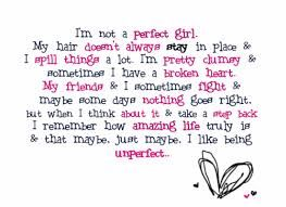 I know I'm unperfect. how about you?