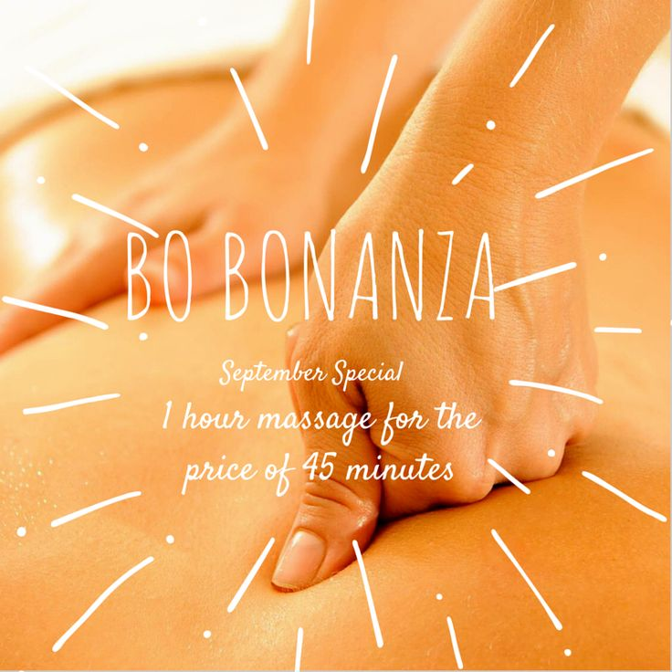 Upstairs at Becalmed September Special with Bo...  To celebrate Bo joining us on  Fridays as well as Saturdays from the start of September we are offering a 1 hour massage for the price of 45 minutes, only £32. Phone us on 01538 384964 to book in.