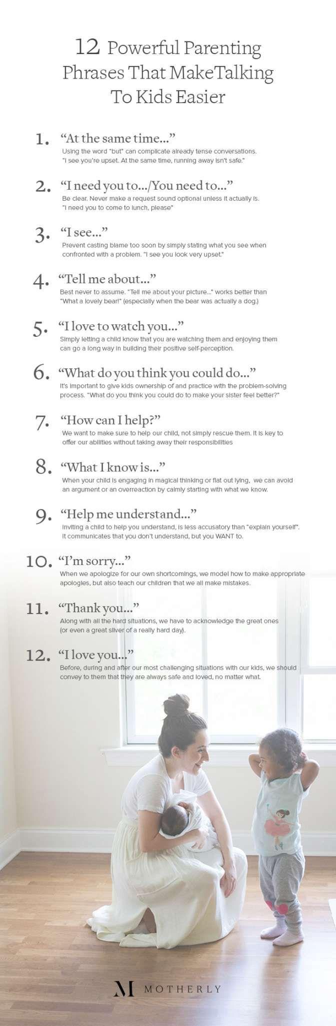 Phrases that make talking to kids easier