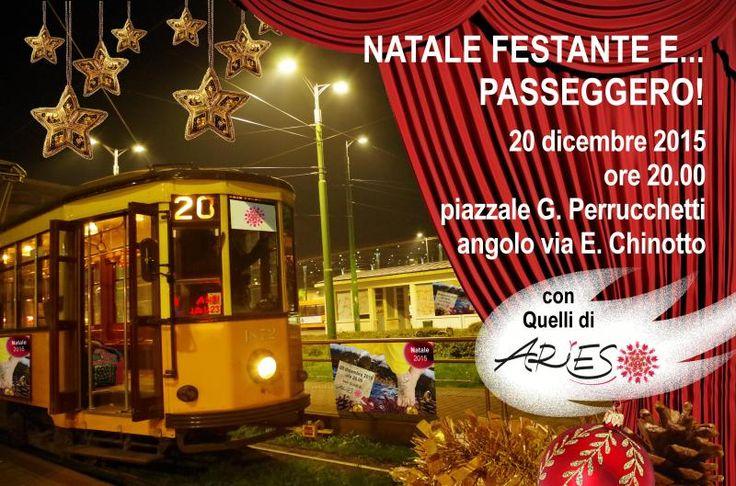 quest'anno la nostra #festa di #natale sarà ancora più divertente! Sul tram storico, in giro per il centro di Milano, tutto illuminato! info@spazioaries.it