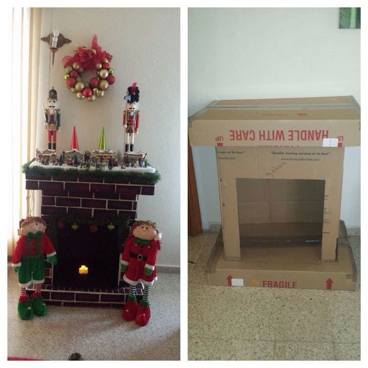 Chimenea navidad adi pinterest como hacer chimeneas - Chimeneas artificiales ...