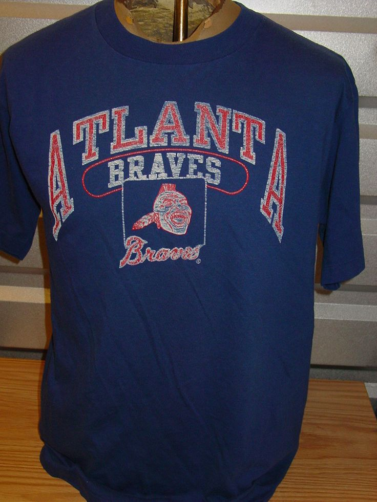 vintage 1980s atlanta braves champion tag t shirt baseball. Black Bedroom Furniture Sets. Home Design Ideas