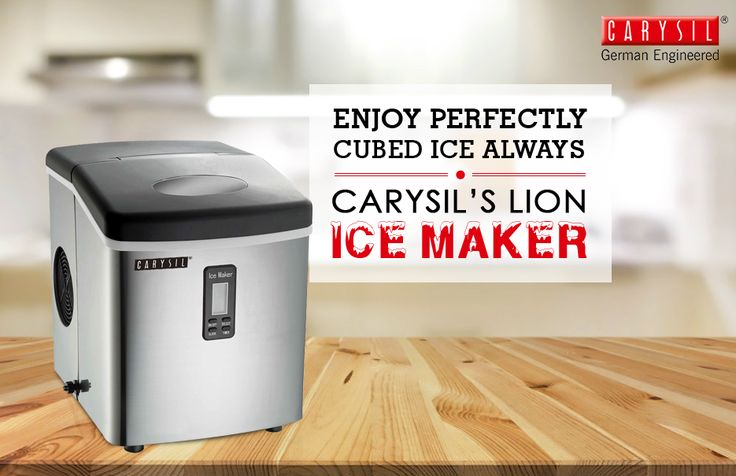 Your Cola will always be Cool with Carysil's Lion Ice Maker!  #CarysilKitchen #IceMaker #Kitchen