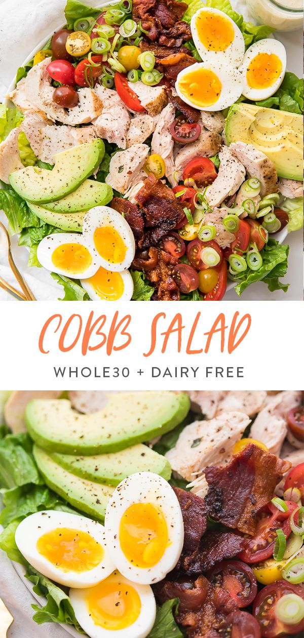 Chicken Cobb Salad (Dairy Free, Whole30) – Gluten Free