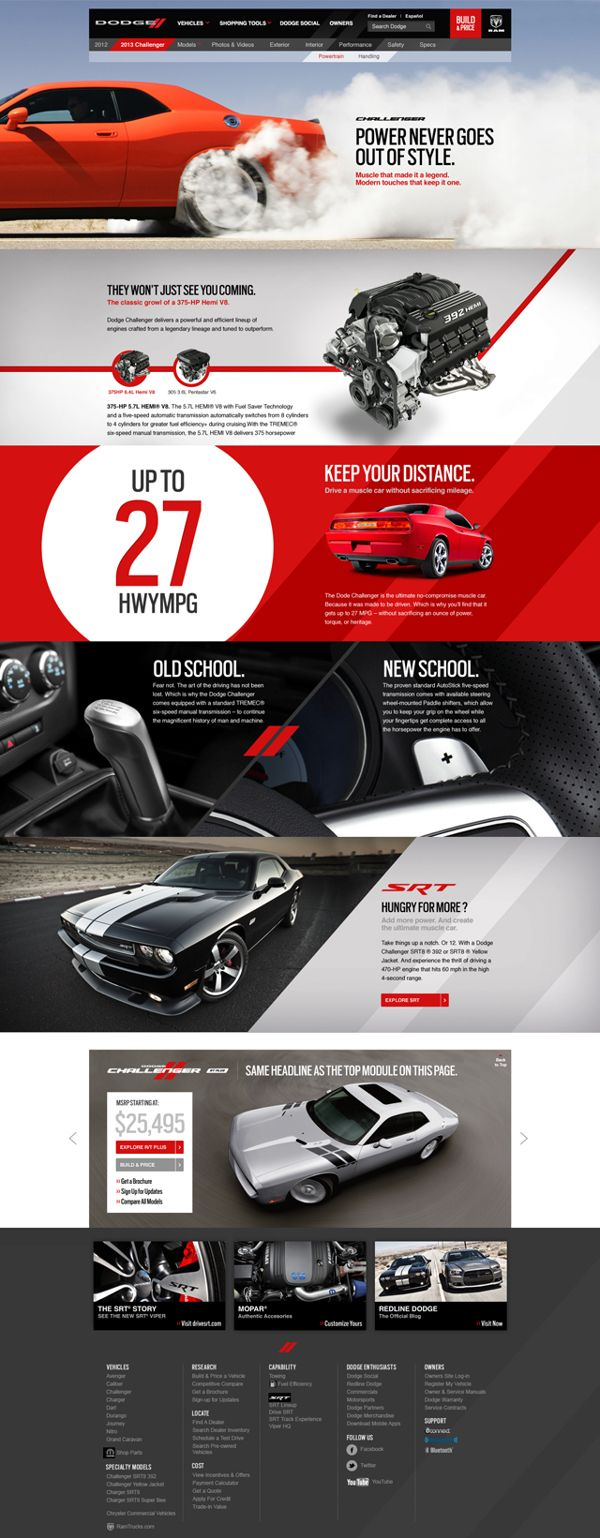 Dodge website #web #design