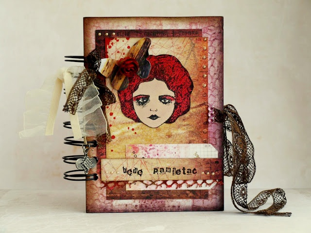 """gorgeous notebook by Agnieszka D with 3rd Eye stamp """"Marie"""" <3 http://3rdeyecraft.com/ <3 #stamping #stamp #craft"""