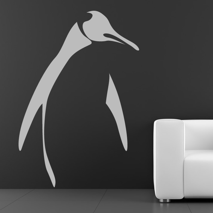 Penguin outline animal wall art stickers wall decal