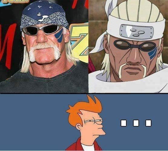 Hulk Hogan was actually the first think I thought of when I saw Killer Bee in the manga for the first time...