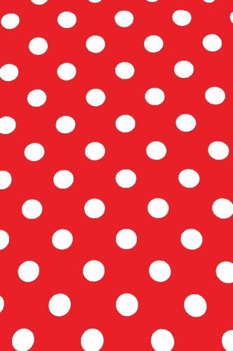 "AB881 Poly Pattern Red With White Polka 2"" Dots 5x9 Background"