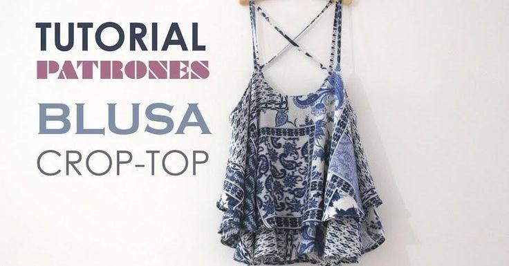 Tutorial y patrones de costura: Blusa tipo crop top