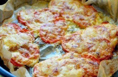 kuřecí řízky s rajčaty a sýrem