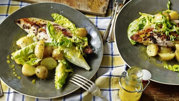 BBC Food - Recipes - Grilled mackerel with new potatoes and salad