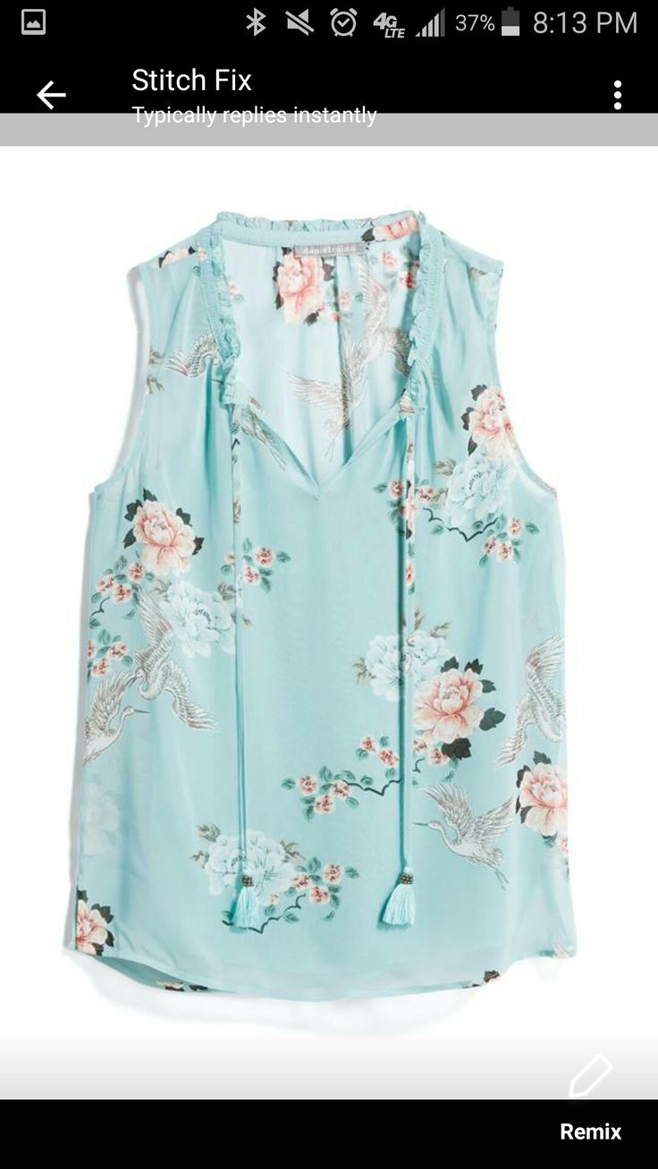 Stitch Fix 2018. Love this! Even though it's a pastel, it would probably be a good color on me.