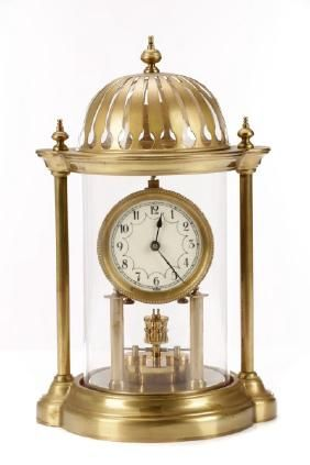 German Disk Pendulum 400 Day Anniversary Clock