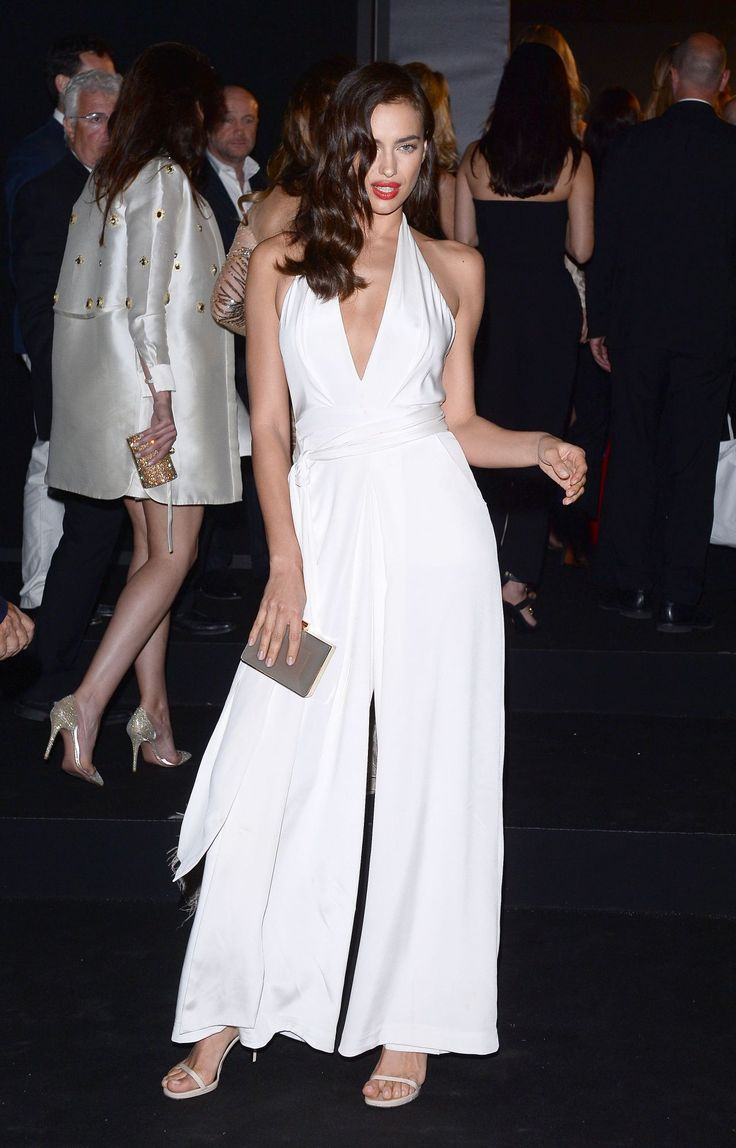 Irina Shayk whilst attending the Chopard party during the 68th Cannes Film Festival. The supermodel is photographed in our lait jumpsuit from the Spring 2015 collection.