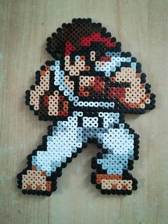 Perles à repasser Street fighter - Bead sprite perler pixel art Ryu