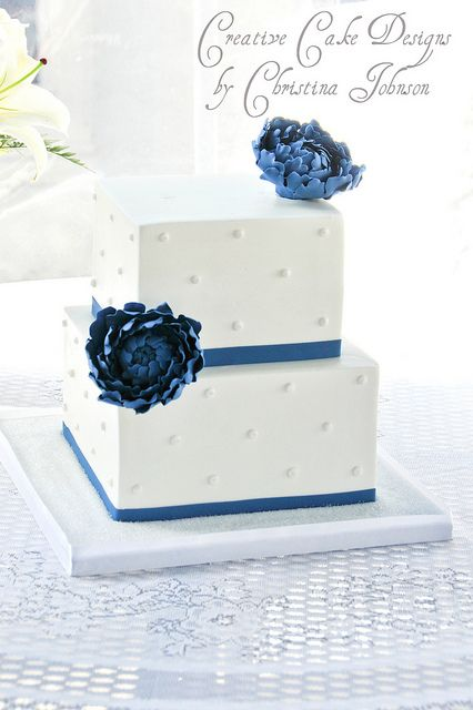 buttercream cake with simple dots