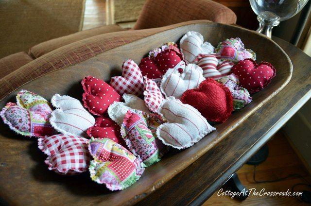 fabric hearts